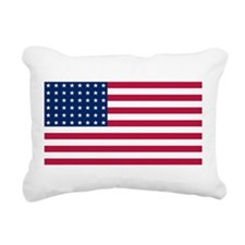 US - 48 Stars Flag Rectangular Canvas Pillow