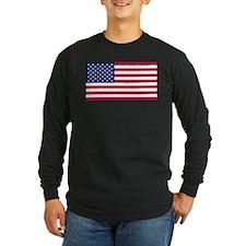 US - 50 Stars Flag Long Sleeve T-Shirt