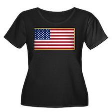 US Military Flag Plus Size T-Shirt