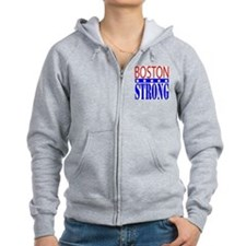 Boston Strong Tee Shirt Zip Hoodie