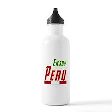 Enjoy Peru Flag Designs Water Bottle