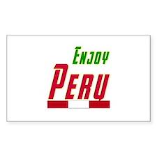 Enjoy Peru Flag Designs Decal