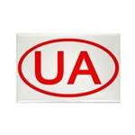 Ukraine - UA Oval Rectangle Magnet (10 pack)