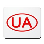 Ukraine - UA Oval Mousepad