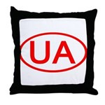 Ukraine - UA Oval Throw Pillow