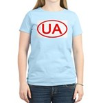 Ukraine - UA Oval Women's Pink T-Shirt