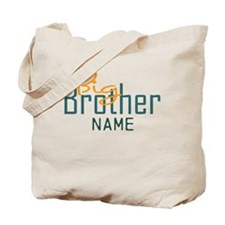 Personalized Add Name Big Brother Print Tote Bag