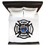 Firefighter Recycle King Duvet