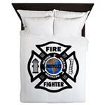 Firefighter Recycle Queen Duvet