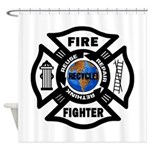 Firefighter Recycle Shower Curtain