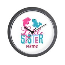 Add Name Little Sister Wall Clock