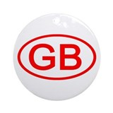 Great Britain - GB Oval Ornament (Round)