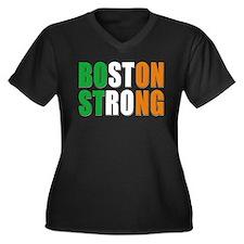Irish Boston Pride Women's Plus Size V-Neck Dark T