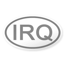 Iraq - IRQ Oval Oval Decal