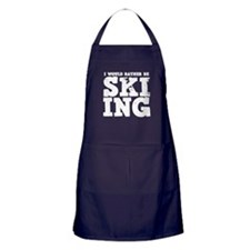 'Rather Be Skiing' Apron (dark)