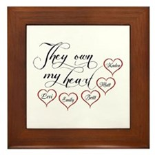 Children They own my heart Framed Tile