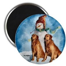 "Golden Retriever Christmas 2.25"" Magnet (10 pack)"