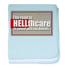 the Road to HELLthcare baby blanket