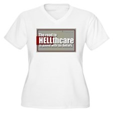 the Road to HELLthcare Plus Size T-Shirt