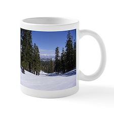 Mammoth Mountain, Blue Sky, White Snow, Tall Trees