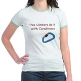 Tree climbers do it with carabiners T-Shirt