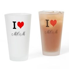 Cute Love your mother Drinking Glass