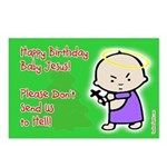 Classic Baby Jesus Birthday Postcards (8pk)