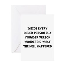 Older Younger Greeting Card