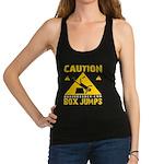 CAUTION BOX JUMPS - BLACK Racerback Tank Top