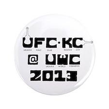 """Ukulele Fight Club @ UWC 2013 Black 3.5"""" Button"""