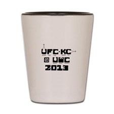 Ukulele Fight Club @ UWC 2013 Black Shot Glass