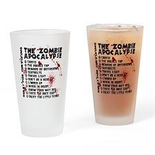 Zombie Apocalypse Rules Drinking Glass