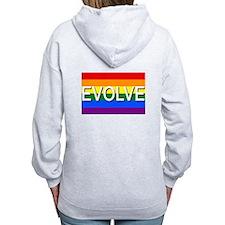 Evolve with GBLT Pride Flag Zip Hoodie