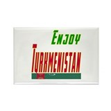 Enjoy Turkmenistan Flag Designs Rectangle Magnet (