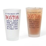 Boston strong Pint Glasses