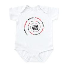 RememberNovember spiral Infant Bodysuit