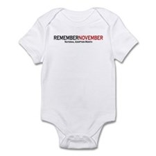 RememberNovember text Infant Bodysuit