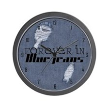 Forever In Blue Jeans Wall Clock