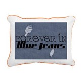 Forever In Blue Jeans Rectangular Canvas Pillow