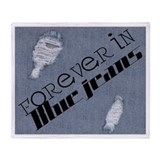 Forever In Blue Jeans Throw Blanket