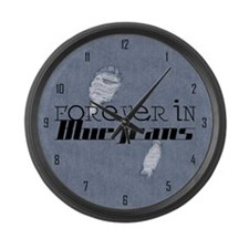 Forever In Blue Jeans Large Wall Clock