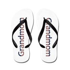 Grandmom Stars and Stripes Flip Flops