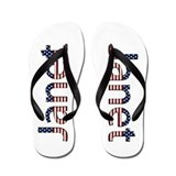 Janet Stars and Stripes Flip Flops