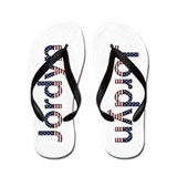 Jordyn Stars and Stripes Flip Flops