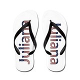 Juliana Stars and Stripes Flip Flops