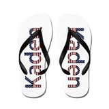 Kaden Stars and Stripes Flip Flops