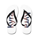 Kyra Stars and Stripes Flip Flops