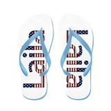Laila Stars and Stripes Flip Flops