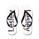 Lesley Stars and Stripes Flip Flops