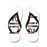Lila Stars and Stripes Flip Flops